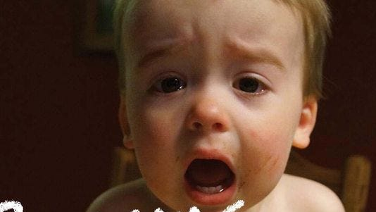 'Reasons My Kid Is Crying' compiles parents' photos of their crying kids, juxtaposed with the silly reasons they are upset.