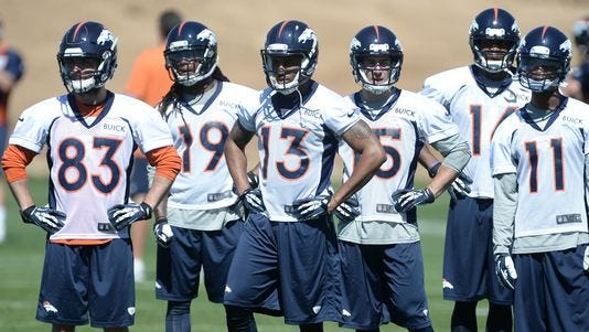 Organized team activities at the Broncos training facility May 28, 2013.