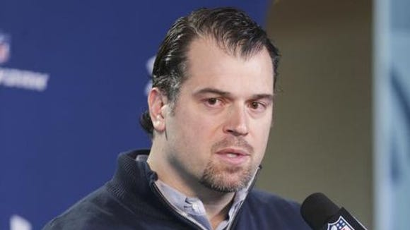 Colts GM Ryan Grigson said he and his personnel staff were underwhelmed by available free-agent offensive linemen.