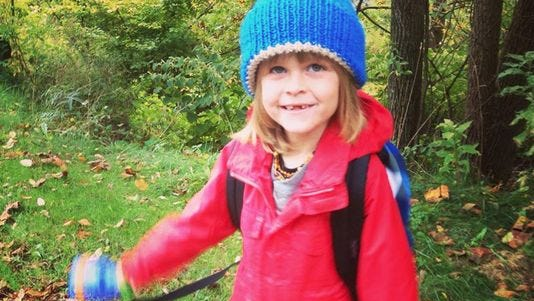 In October, Garnett Spears started kindergarten at Green Meadow Waldorf School in Chestnut Ridge, associated with The Fellowship Community.
