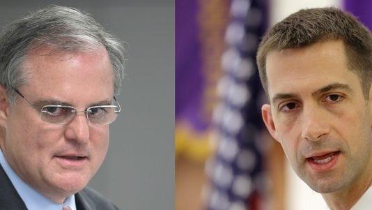 Democratic incumbent U.S. Sen. Mark Pryor (left) and Republican challenger Tom Cotton.