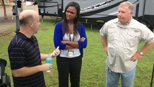 Corey Clark (left), Natalie Pierre and Keith Jones.