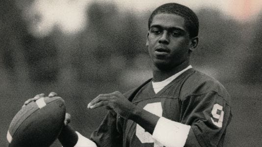 Michael Taylor, shown here in the 1980s, is not happy with Michigan football.