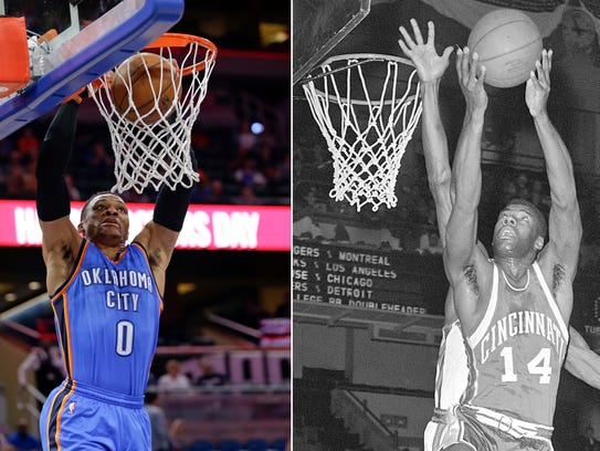 Westbrook and Robertson averaged triple-doubles 55