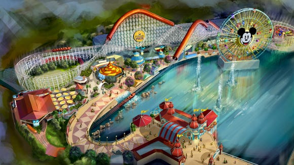 "The new Pixar Pier at Disney California Adventure opens to guests in June 2018. It will feature the new Incredicoaster, inspired by Disney Pixar's ""The Incredibles."""