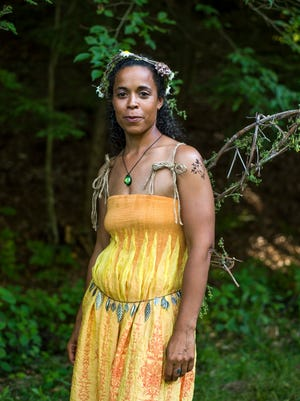 Stacy Crandell, of Windsor, dressed as a garden faerie.