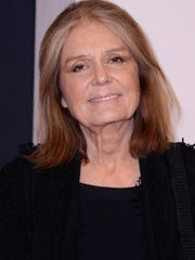 "Gloria Steinem attends the ""Exodus: Gods And Kings"" New York premiere at the Brooklyn Museum in 2014 in New York City.  Steinem comes to the Nightingale Concert Hall on Sept. 20 to speak about her experiences as a journalist and a feminist, and to promote her new book ""My Life on the Road."""