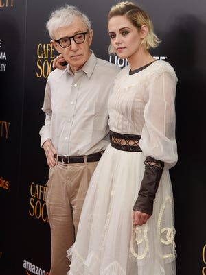 """Woody Allen and Kristen Stewart attends the premiere of """"Cafe Society"""" hosted by Amazon & Lionsgate with The Cinema Society at Paris Theatre on July 13, 2016 in New York City."""