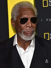 Morgan Freeman attends National Geographic's Further Front Event on April 19, 2017, in New York City.