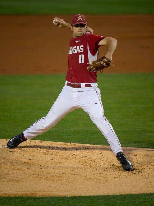 McKinney pitches for Arkansas