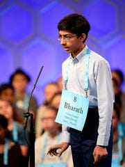 Bharath Ram spelled the word zoomorphic correctly during the 2018 Scripps National Spelling Bee on May 30, 2018 at the Gaylord National Resort and Convention Center in National Harbor, Md.