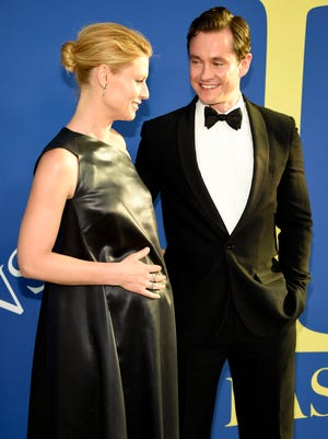 Claire Danes and Hugh Dancy just welcomed their second son. Here's the expectant couple at the CFDA Fashion Awards in June.