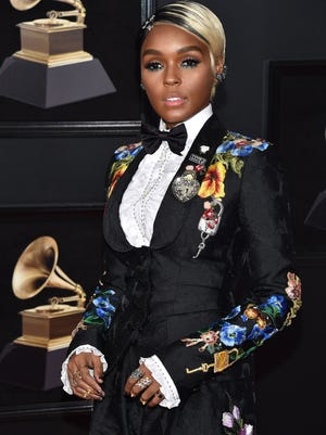 Janelle Monae attends the 60th Annual Grammy Awards on Jan. 28, 2018, at Madison Square Garden in New York.