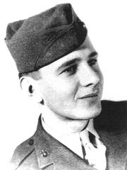 Edgar Harrell as a 20-year-old member of the U.S. Marine