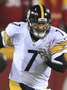 Pittsburgh Steelers quarterback Ben Roethlisberger (7), shown scrambling against the Kansas City Chiefs, is talking about the possibility of retiring.