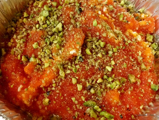 Alshami Restaurant: Kunafa iconic cheese pastry soaked