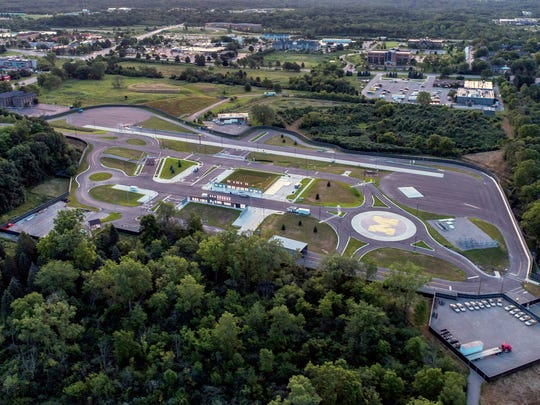 MCity is the world's first full scale urban environment on 32 acres designed expressly for testing the performance and safety of connected and autonomous vehicles under controlled and realistic road conditions. It is on the grounds of the University of Michigan in Ann Arbor.
