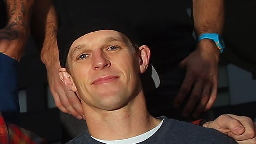 Erik Roner poses for a photo prior to a Nitro Circus Live Show in Manchester on November 26, 2013 in Manchester, England.