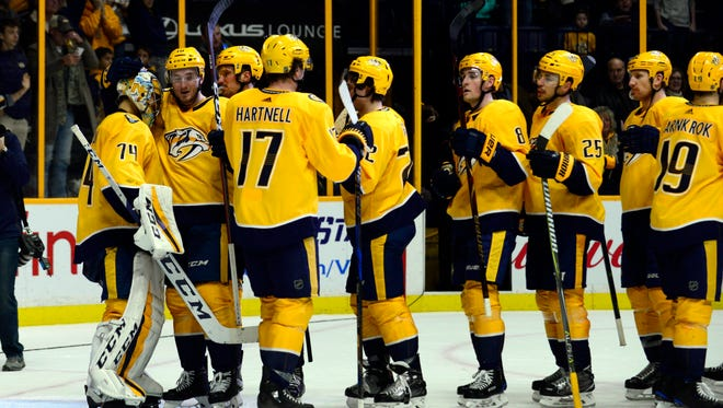 The Predators start a three-game road trip Tuesday against the Vegas Golden Knights.