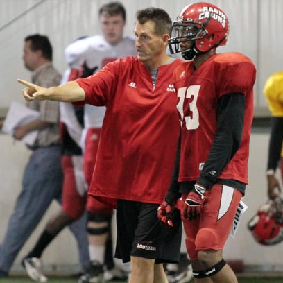 UL assistant coach David Saunders, shown here giving