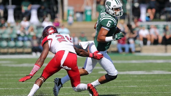 Oct 10, 2015; Athens, OH, USA; Ohio Bobcats wide receiver