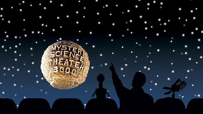 """In 1991, the cast of """"Mystery Science Theater 3000"""" invited us all to celebrate """"A Patrick Swayze Christmas."""""""
