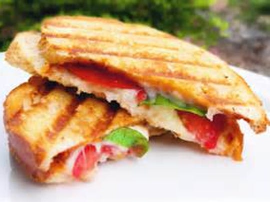 Fresh Mozzarella and Tomato Panini