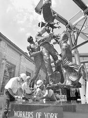 This statue, from the hands of York County sculptor