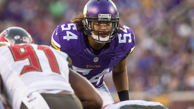 Minnesota traded starting middle linebacker Gerald Hodges to San Francisco last week, pushing rookie Eric Kendricks (pictured) up the depth chart over the bye week.