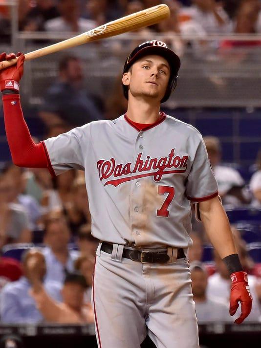 USP MLB: WASHINGTON NATIONALS AT MIAMI MARLINS S BBN MIA WAS USA FL