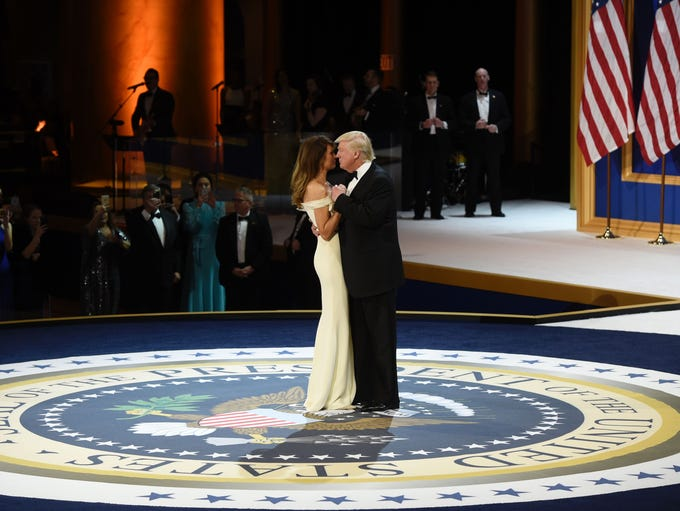 President Donald Trump and his wife First Lady Melania