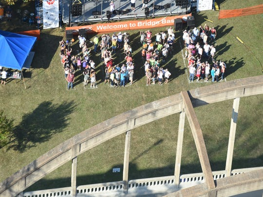 Donors spell out 'hope' during the 2017 Bridge Bash fundraiser. This year's 'Stand Up for Hope' event will be held at 5:30 p.m. on Saturday on the campus of Arkansas State University-Mountain Home.