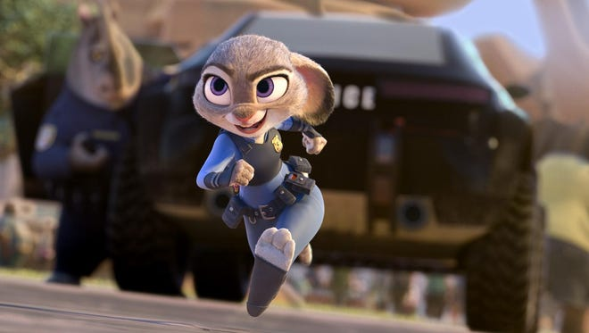 """Judy Hopps (voice of Ginnifer Goodwin) believes anyone can be anything in """"Zootopia."""""""