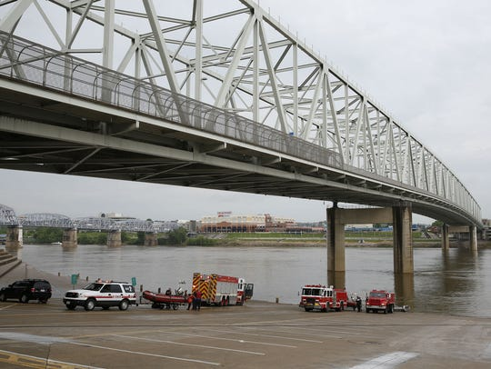 Cincinnati police and fire rescue units responded to