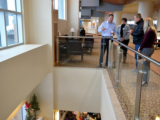 A display of a grizzly bear will be located above the gift shop in the second-floor concourse in the South Tower.