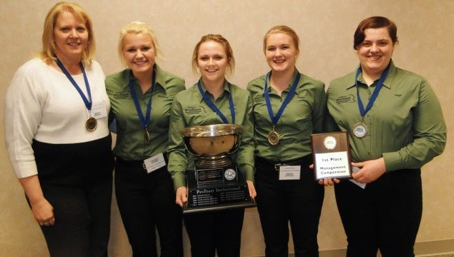 A team from Sauk Rapids-Rice High School took first place in a culinary management competition for the second consecutive year on March 10 at the 10th annual Minnesota ProStart Invitational in Mounds View. The team advances to a national competition, April 29-May 1 in Texas.