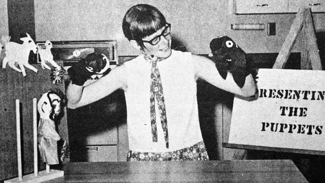 Local 4-H demonstrator Bonnie Jo Boots presented her state-fair winning puppets, as seen in this photo that first appeared in the July 2, 1970 edition of the Redwood Gazette.