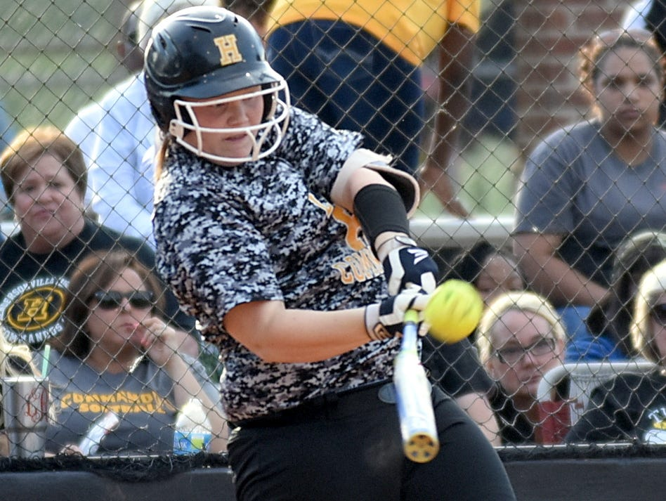 Hendersonville High junior Annsley Kalamon swings at a first-inning pitch.