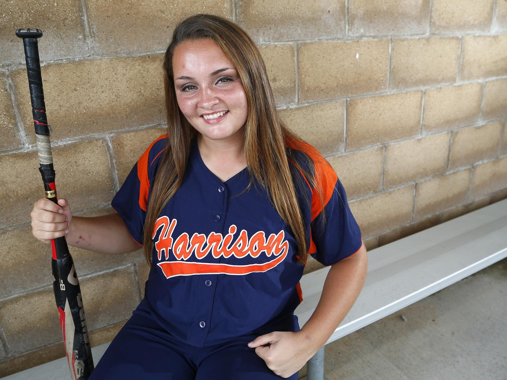 Kaitlynn Moody of Harrison High School is the 2015 Journal & Courier Big School Player of the Year for softball.
