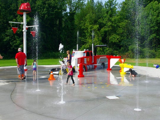 The First Responders Spray Park is now open at the Webster Recreation Center on Chiyoda Drive. (Photo: M. Rosenberry)