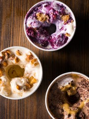 A trio of Shake Shack concretes, a popular treat from