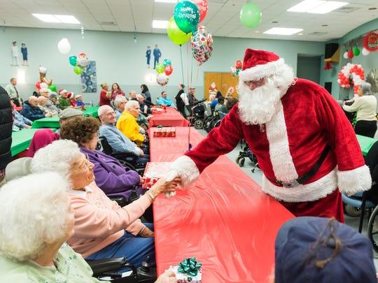 Veterans meet Santa as part of an outrach program by