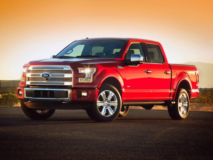 The 2015 F-150 pickup makes its public debut at the Detroit auto show. In radical switch, the body is military-grade aluminum, not steel.