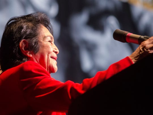Labor leader Dolores Huerta, co-founder of the United Farm Workers, will participate in the inaugural Mobius Conference.