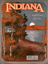 "Sheet music for ""(Back Home Again in) Indiana."""