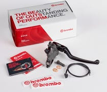 Aftermarket Brembo brakes allow motorcyclists to r...