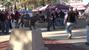 Fans mill around outside Davis Wade Stadium before