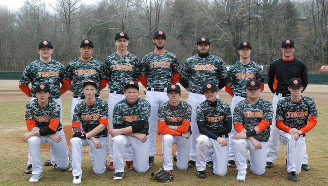 The Rosman baseball team.
