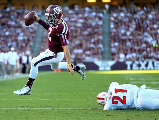 Maxwell Award (college player of the year) finalists: Johnny Manziel, QB, Texas A&M.