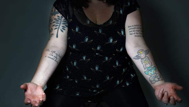 For Laura Peters, each of her tattoos has a special and specific meaning. They have helped her through hard times and kept her from harming herself.